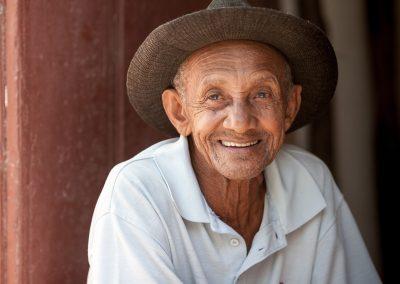 Kubaner lächelt